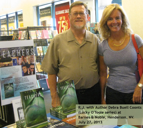 R.J. with Author Debra Buell Coonts at Barnes & Noble/Henderson, NV